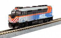 "KATO 1769106DCC N  F40PH Chicago Metra 181 w Ditch Lt ""Schaumburg"" 176-9106DCC"