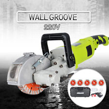 220V Electric Wall Chaser Groove Cutting Slotting Machine High Power 4000W 33MM
