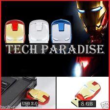 1x Clé USB 2.0 Iron Man Marvel 8Gb 8Go Flash Drive Memory Stick Pendrive Rouge