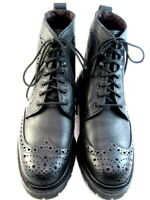 "NEW Allen Edmonds ""Long Branch"" Men's Wingtip Casual Boots 8.5 D Black  (517)"