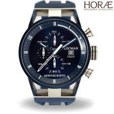 Orologio da Polso uomo Locman Montecristo 0510BLBLFWH0SIB crono blu gomma PVD