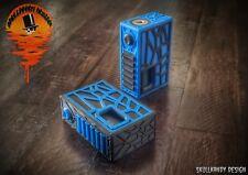 CRYPTEK 20700 18650 HD ZABS Full Mech Squonk Mod Box Ultra Blue/Carbon Black