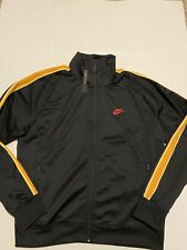 Mens Nike Sportswear Heritage Track Jacket CK0145-010 Black/Yellow NWT Size Med