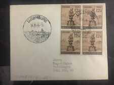 1944 Luxembourg Besetzt von Deutschland Abdeckung Fulda Briefmarke