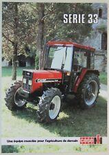 prospectus brochure tracteur CASE IH SERIE 33 tractor traktor prospekt trattore