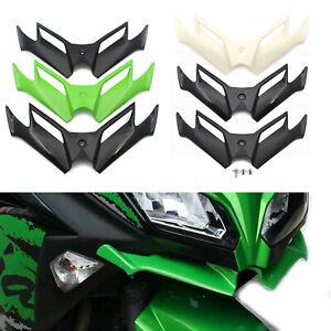 Front Fairing Aerodynamics Winglet Fit Kawasaki Ninja 250 300 Carbon Fiber Black