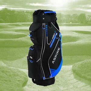 Aspirepro X Cart or Trolley Golf Bag, 14 way divider, Black-Blue