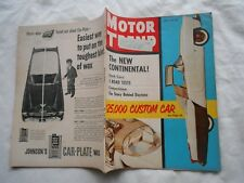 MOTOR TREND  Magazine-MAY,1955-THE NEW CONTINENTAL !