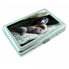Cute Sloth Images D6 Silver Metal Cigarette Case RFID Protection Wallet