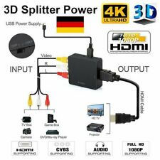 Mini AV to HDMI Video Audio Konverter 1080P 3 RCA CVBS zu HDMI Adapter Converter