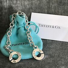 Tiffany & Co Sterling Silver 1837 T&CO Circle Clasp Toggle Bracelet
