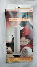 Wine Pump - Pump and Four Sealers - To Seal Opened Wine Bottles - UNUSED