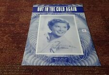 Out in the cold again Mindy Carson 1934 sheet music EX