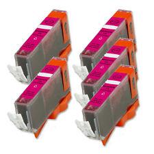 5 MAGENTA Printer Ink + smart chip for Canon CLI-221 MP640 MX860 MX870 MP980