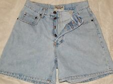 Denim Shorts Ten Star 7 8 Button Fly High waist Light wash Blue Jean Women's