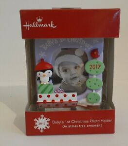 Baby's First Christmas Boy Girl Hallmark Christmas Ornament 2017 ~ New