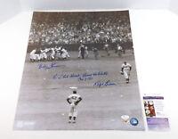 Bobby Thomson / Ralph Branca Signed 16x20 B&W Photo with Inscription 2 JSA Autos