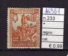 FRANCOBOLLI ITALIA REGNO LINGUELLATI* N°233 (A4961)