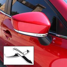 Chrome Rear View Side Mirror Cover Trim Molding Garnish For Mazda 3 BM 2014-2016