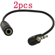 2pcs 2.5mm Male to 3.5mm Female M/F Headset Headphone Stereo Adapter Converter