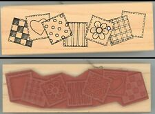 Rubber Stamp Block - Great Impressions G430 Squares, Heart, Flowers C-4