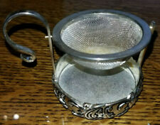 New listing Tea Strainer A Special Place Silver Plated 1999 Swinging Basket Stand