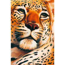 """LEOPARD - STUNNING ARTWORK 91 x 61 cm 36"""" x 24"""" WILD ANIMALS POSTER x"""