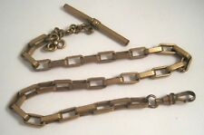 Antique Vintage Gold Filled Rectangular Thick Cable Link Pocket Watch Chain 25g