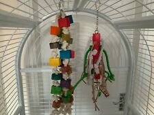 2 x Parrot Bird Toys - Parrot Toy With Bell, Parakeet, Parrot Toy.....