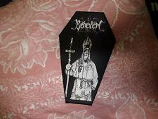 Behexen Coffin Shape Back Patch Black Metal Horna