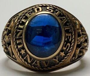 United States Navy Ring, 10K Gold, Sz. 10.5