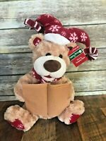 """NEW Merry Brite Animated Christmas Singing Bear 16.5"""" We Just Can't Wait"""