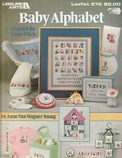 Baby Alphabet cross stitch charts livret Leisure Arts