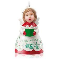 Holly 2015 Hallmark HEAVENLY BELLES Christmas Ornament 3rd Porcelain Angel Bell