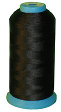Black Bonded Nylon Sewing Thread #69 T70 1500 Yard for Outdoor Leather Upholstery