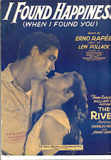 "THE RIVER Sheet Music ""I Found Happiness"" Charles Farrell Mary Duncan"