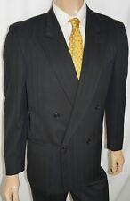 40R TED LAPIDUS 2-Piece Suit – Men 40 Black Pinstripe DB Wool 34x31