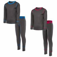 Trespass Bamba Boys Girls Thermal Base Layer Set Long Sleeve Top & Trousers