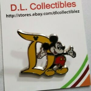 Disney Mickey Mouse Hidden Mickey Letter D Mickey Mouse Pin