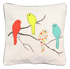 Spencer Home Decor Four Birdies Throw Pillow - N