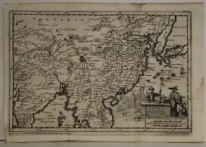 CHINA KOREAN PENINSULA INDIA JAPAN 1706 VAN DER AA ANTIQUE COPPER ENGRAVED MAP