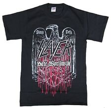 Official SLAYER World Tour 2011 Hate Worldwide Hardcore Heavy Metal maglietta S