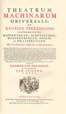 THEATRUM MACHINARUM UNIVERSALE OF GROTE WATERWERKEN (FACSIMILE 1736)