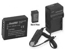 Battery + Charger for Panasonic DMC-TZ1 DMC-TZ1-A