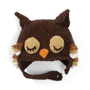 New San Diego Co. OWL HAT Bonnet Beanie 1-2 yrs 12-24 mos baby boy girl  gift