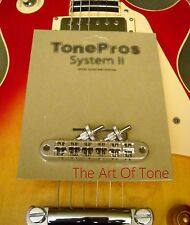 TonePros® T3BP-C Locking Tune-o-matic NASHVILLE Bridge - Chrome - NOTCHED