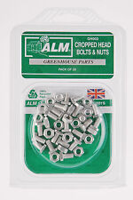 ALM Greenhouse Green House Cropped Head Nuts & Bolts Pack 20 GH003
