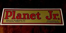 """Planet Jr. Decal Walking Tractor BP1 Plow 10-1/4"""" Gold Red Black"""