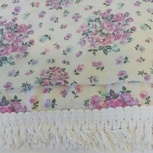 Vintage 60s 70s St Michael Bedspread Throw Floral Retro Shabby Chic Cottagecore
