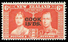 Scott # 110 - 1937 -  ' Silver Jubilee ' - Ovpt. COOK ISLANDS